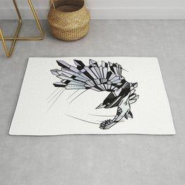 Geometric Raven Rug