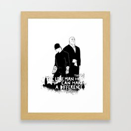 The Devil and the Ill Intent Framed Art Print