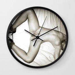 Naughty, naughty posing - BDSM, bondage play Wall Clock