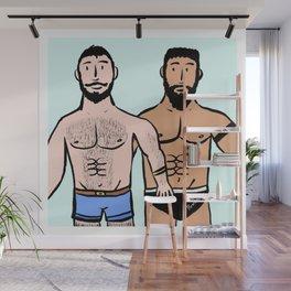Beard Boy: Roger & Karim Wall Mural