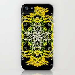 Crowning Goldenrod and Silver king Kaleidoscope Scanography iPhone Case