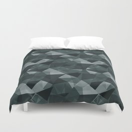 Abstract Geometrical Triangle Patterns 4 PPG Glidden Night Watch 1145-7 Duvet Cover