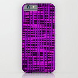 Square luminous violet lines on a dark tree. iPhone Case