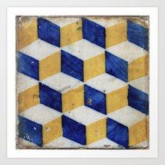 Portuguese tiles pattern Art Print