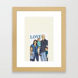Chad's beautiful family Framed Art Print