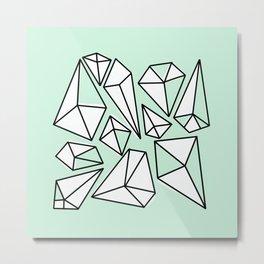 Shine Bright Like A Diamond | Minty Metal Print