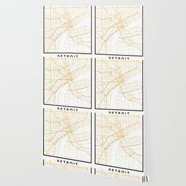 DETROIT MICHIGAN CITY STREET MAP ART Wallpaper