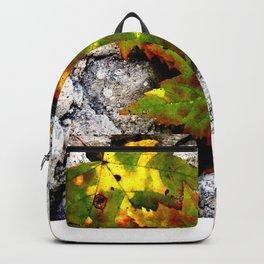 Leaves in Gray Backpack