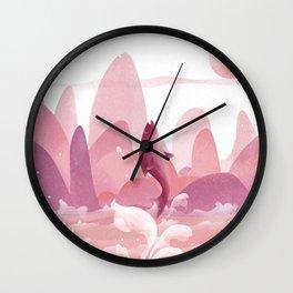 Fly Dolphin In The Sky Wall Clock