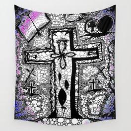 He is Risen - B/W Wall Tapestry