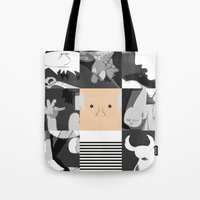 pablo picasso Tote Bags featuring Pablo by Macu