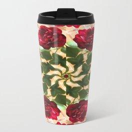 Old Red Rose Kaleidoscope 12 Travel Mug