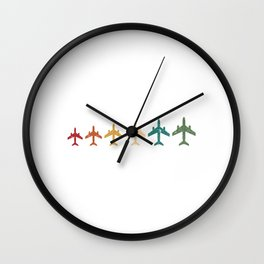 My Heart Belongs To A Pilot T-shirt Design For A Proud Wife To Her Airplane Pilot Husband Sky Wall Clock