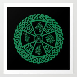 Celtic Nature 2 Art Print