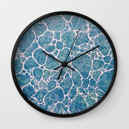Ocean Foam Wall Clock