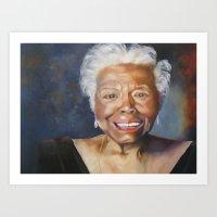 Maya Angelou Art Print