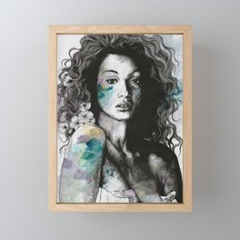 Start With a Strong and Persistent Desire | sexy black woman portrait Framed Mini Art Print