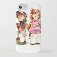 gravity falls iPhone & iPod Cases featuring Gravity Falls by Archiri Usagi