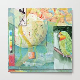 Song for Superb Parrot Metal Print
