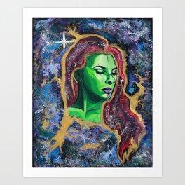 Galaxy Girl Series -1- Nadya Art Print