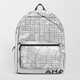 Minimal City Maps - Map of Anaheim, California, United States Backpack