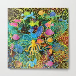 Fish World Metal Print