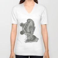 pablo picasso V-neck T-shirts featuring Pablo Picasso Triangulation by Triangulation Store