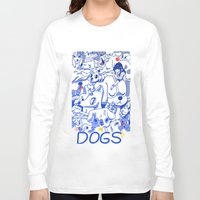 dogs Long Sleeve T-shirts featuring Dogs✧ by Natali Koromoto