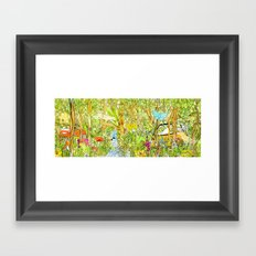 Cars in the Wild (color version) Framed Art Print