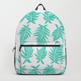Inked Ferns – Turquoise Palette Backpack