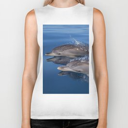 Beautiful Spotted dolphins Stenella frontalis Biker Tank