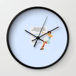 life story Wall Clock