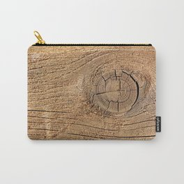Old wood plank Carry-All Pouch