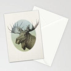 Moose head elk Stationery Cards