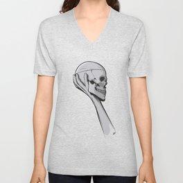 Skull Hamblet  Unisex V-Neck
