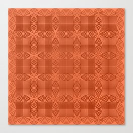 Op Art 18 - Coral Canvas Print