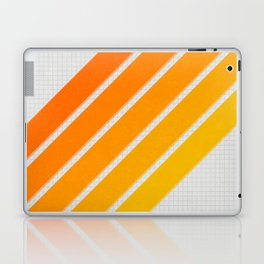 Orange Color Drift Laptop & iPad Skin