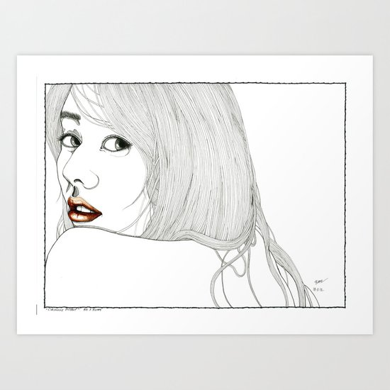 Curiously distant Art Print