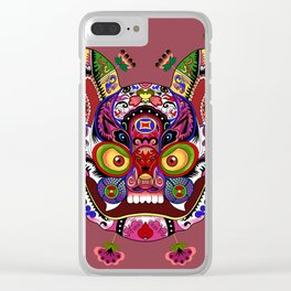 Tiger of the Silk Road Clear iPhone Case