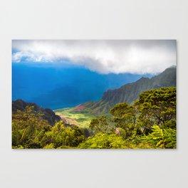 Kalalau lookout in Koke'e State Park - Kauai, Hawaii Canvas Print