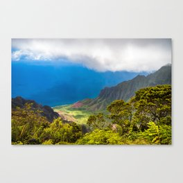 Kalalau lookout in Koke'e State Park - Kauai, Hawaii Canvas Print
