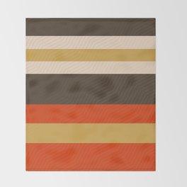Retro Zigzag Geometric Pattern Throw Blanket