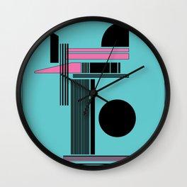 80's Miami abstract Wall Clock