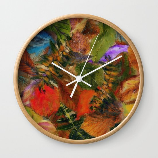 Autumn Leaf Fall 2 Wall Clock