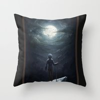 jack frost Throw Pillows featuring Jack Frost by Westling