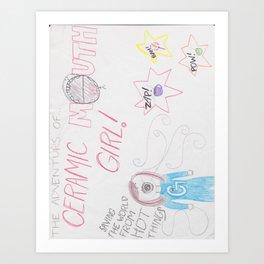 Ceramic Mouth Girl Art Print