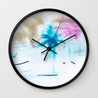 preppy Wall Clocks featuring Preppy Beach by EPART