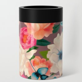 Peachy Blooms Can Cooler