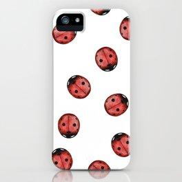 Mixed Media Ladybug iPhone Case