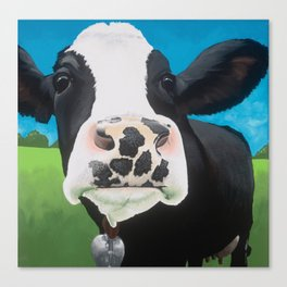 Flossie the Freckled Cow Canvas Print